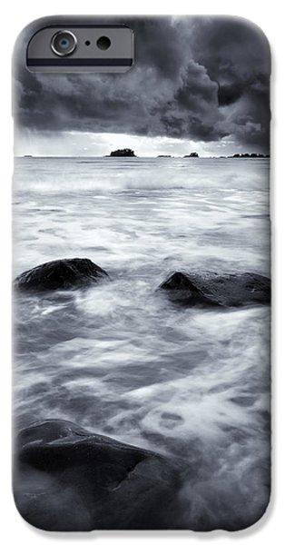 Turbulent Seas iPhone Case by Mike  Dawson