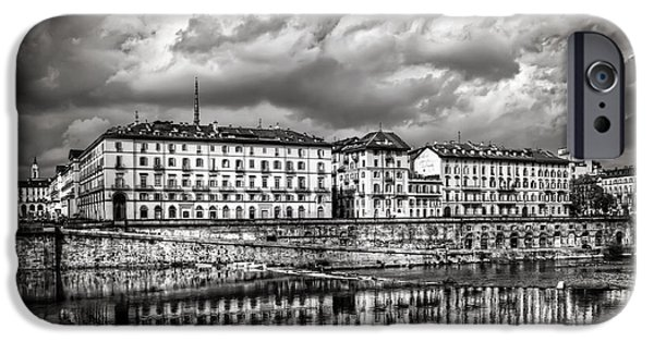 Drama iPhone Cases - Turin Shrouded in Cloud iPhone Case by Carol Japp
