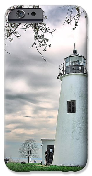 Lighthouse iPhone Cases - Turkey Point Lighthouse iPhone Case by Mark Fuller