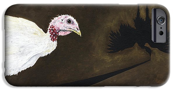 Advocacy iPhone Cases - Turkey Shadow iPhone Case by Twyla Francois