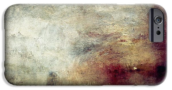 1840 iPhone Cases - TURNER: SUN SETTING, c1840 iPhone Case by Granger