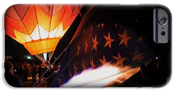 Hot Air Balloon iPhone Cases - Turning On the Heat iPhone Case by Donna Kennedy