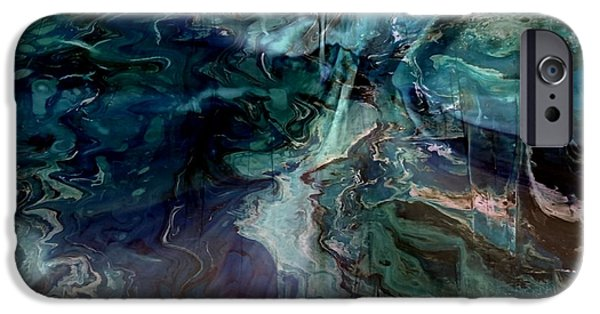 Modern Abstract iPhone Cases - Turquoise Magic iPhone Case by TLynn Brentnall