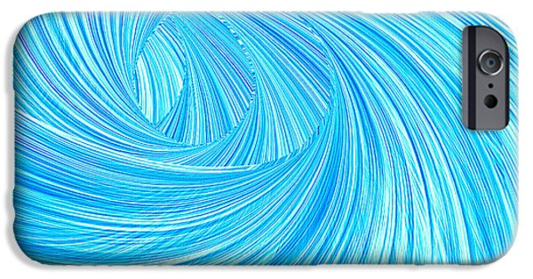 Surfer Art iPhone Cases - Turquoise Rays iPhone Case by Lourry Legarde