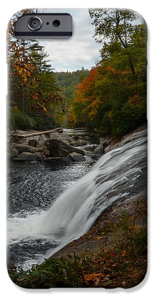 Autumn iPhone Cases - Turtleback Falls Autumn iPhone Case by Deanna Duke