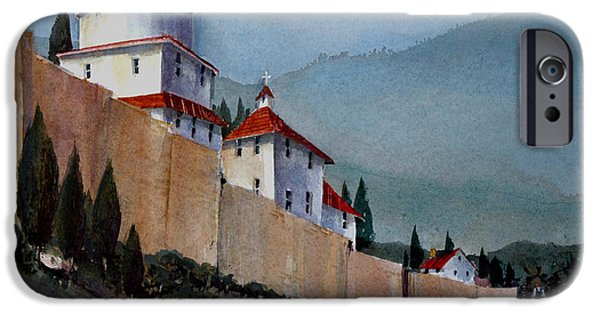 Tuscan Hills Paintings iPhone Cases - Tuscan Lane iPhone Case by Charles Rowland