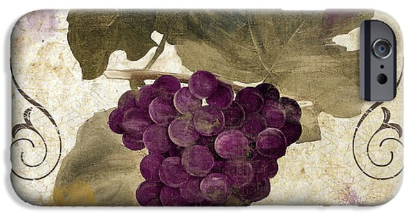 Table Wine iPhone Cases - Tuscan Table Rouge iPhone Case by Mindy Sommers
