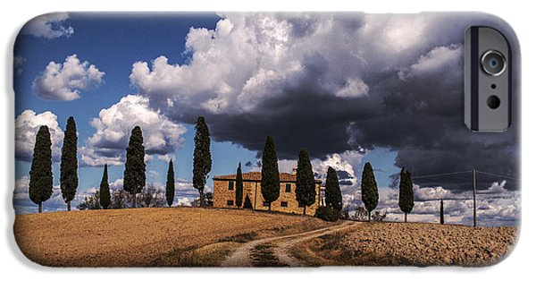 Italy iPhone Cases - Tuscan villa iPhone Case by Yuri Santin