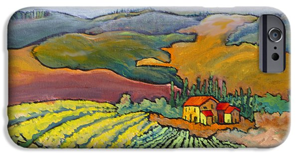 Chianti Hills iPhone Cases - Tuscan Vineyard iPhone Case by Mohamed Hirji