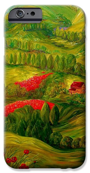 Village iPhone Cases - Tuscany at Dawn iPhone Case by Eloise Schneider