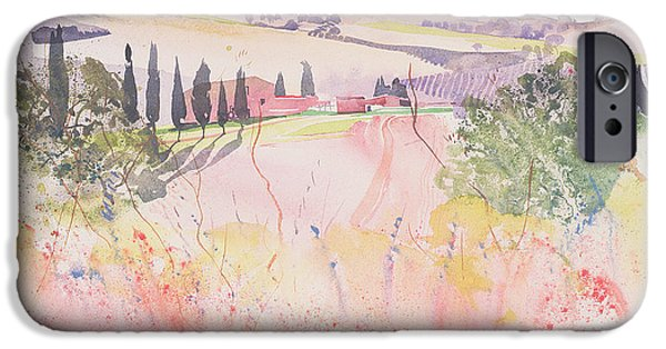 Tuscan Landscapes iPhone Cases - Tuscany south of Montalcino iPhone Case by Simon Fletcher