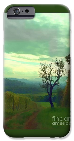 Vineyard Photograph iPhone Cases - Tuscany vineyard  iPhone Case by Tom Prendergast
