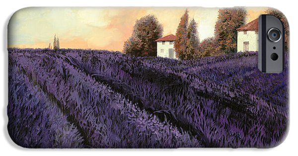Lavender iPhone Cases - Tutta lavanda iPhone Case by Guido Borelli