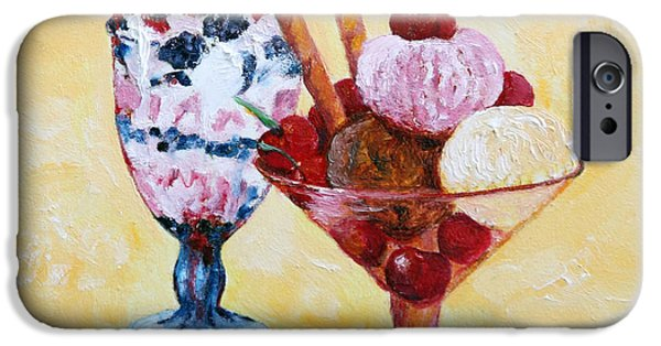 Party Birthday Party iPhone Cases - Tutti Frutti II iPhone Case by Enzie Shahmiri