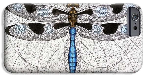 Invertebrates Mixed Media iPhone Cases - Twelve Spotted Skimmer iPhone Case by Charles Harden