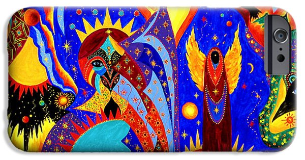 Night Angel iPhone Cases - Angel Fire iPhone Case by Marina Petro