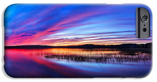 Downeast iPhone Cases - Twilight Burn Panorama iPhone Case by Bill Caldwell -        ABeautifulSky Photography