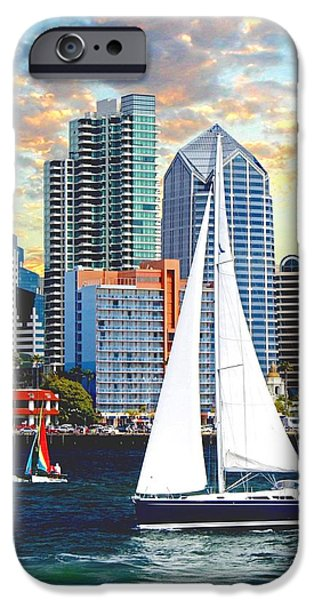 Buildings By The Ocean iPhone Cases - Twilight Harbor Curise1 iPhone Case by Ronald Chambers