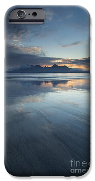 Inner Self Photographs iPhone Cases - Twilight Sunset Over The Isle Of Rhum iPhone Case by John Potter