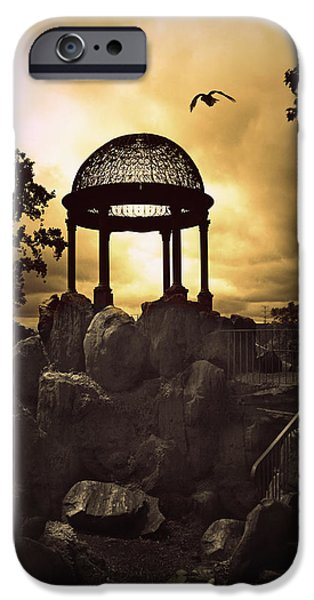 Cliff iPhone Cases - Twilight Temple iPhone Case by Jessica Jenney