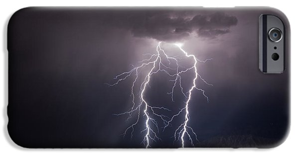 Electrical iPhone Cases - Twin Bolts iPhone Case by Bryan Layne
