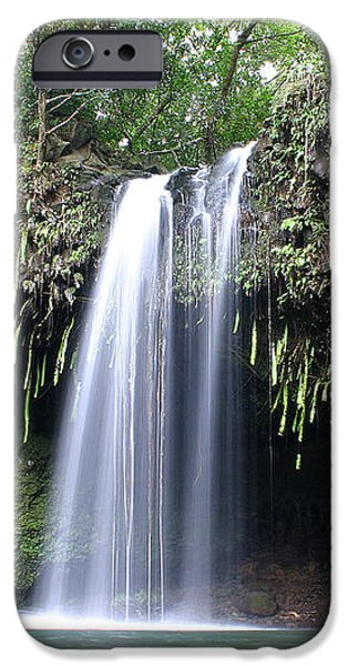 Twin falls Maui Hawaii iPhone Case by Pierre Leclerc Photography