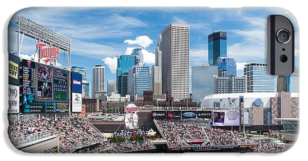 Baseball Stadiums iPhone Cases - Twins Skyline iPhone Case by Ben Cooper