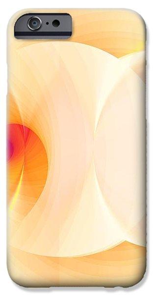 Twirls 333 iPhone Case by Richard Ortolano