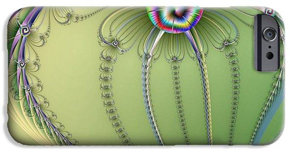 Floral Digital Art Digital Art iPhone Cases - Twisted Heart iPhone Case by Regina Rodella
