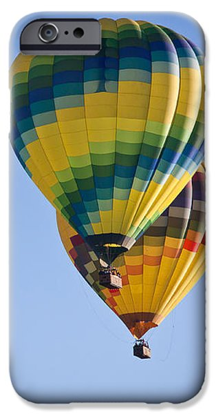 Hot Air Balloon iPhone Cases - Two Balloons iPhone Case by Ana V  Ramirez