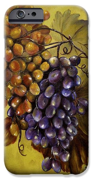 Concord Grapes iPhone Cases - Two choices iPhone Case by Carol Sweetwood