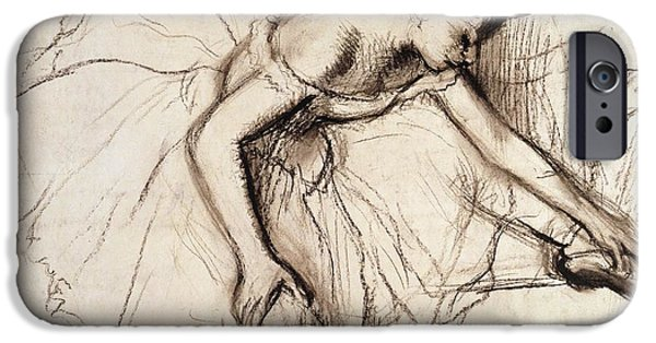 Dancer iPhone Cases - Two Dancers Resting iPhone Case by Edgar Degas