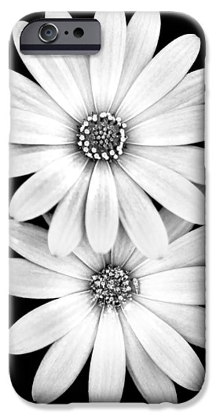 Centre iPhone Cases - Two Flowers iPhone Case by Az Jackson