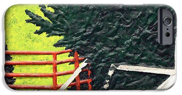 Nature Abstracts Reliefs iPhone Cases - Two Gates iPhone Case by Bill Hughey