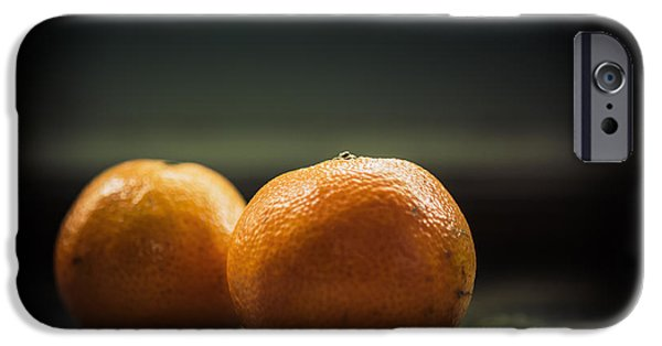 Tangerine iPhone Cases - Two Oranges iPhone Case by Yo Pedro