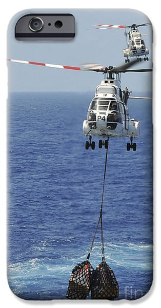 Two Sa-330 Puma Helicopters Deliver iPhone Case by Stocktrek Images