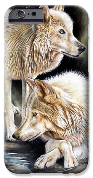 Animals Tapestries - Textiles iPhone Cases - Two iPhone Case by Sandi Baker