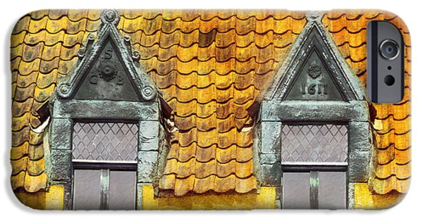 Built Structure iPhone Cases - Two Windows in Culross iPhone Case by Hal Halli
