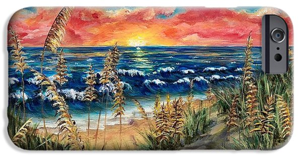 Recently Sold -  - Ocean Sunset iPhone Cases - Tybee Beach iPhone Case by Donna Waite