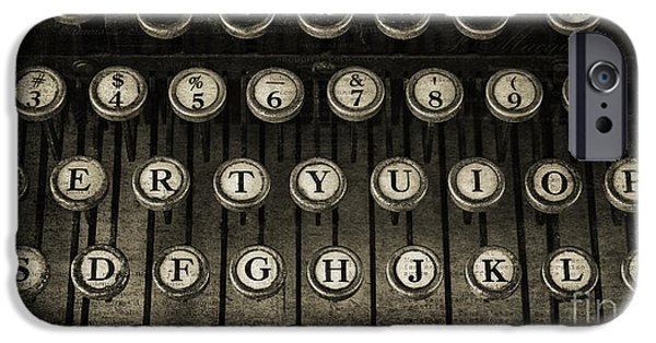 Typewriter Keys Photographs iPhone Cases - Typewriter Keys 2 iPhone Case by Cindi Ressler