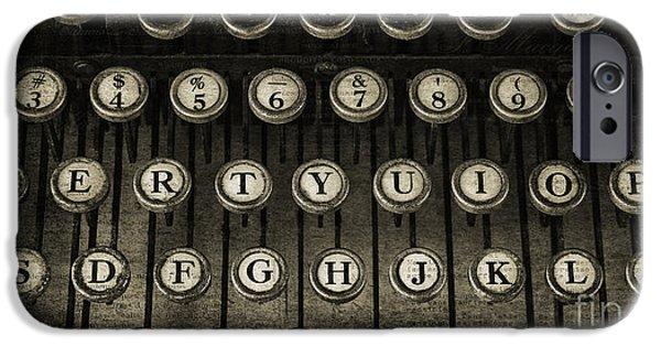 Typewriter Keys iPhone Cases - Typewriter Keys 2 iPhone Case by Cindi Ressler