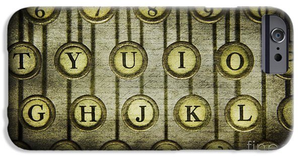 Typewriter Keys Photographs iPhone Cases - Typewriter Keys iPhone Case by Cindi Ressler