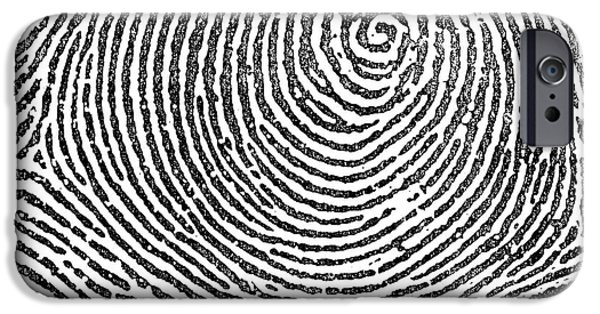 Law Enforcement iPhone Cases - Typical Whorl Pattern in 1900 iPhone Case by Science Source