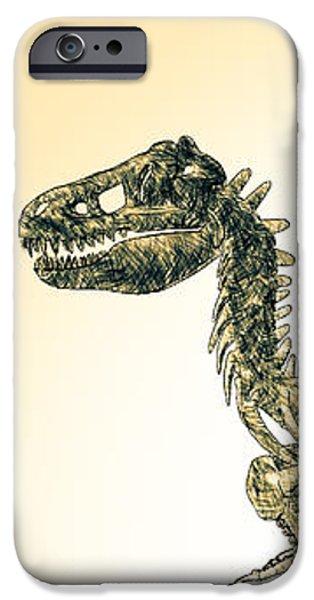 Bob Orsillo Digital Art iPhone Cases - Tyrannosaurus Rex Skeleton iPhone Case by Bob Orsillo
