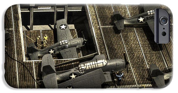 Weapon iPhone Cases - U S S Hornet C V-12 iPhone Case by John Straton