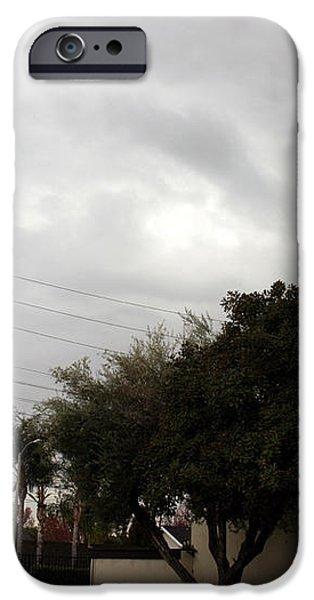 ufo over my neighborhood  iPhone Case by Michael Ledray