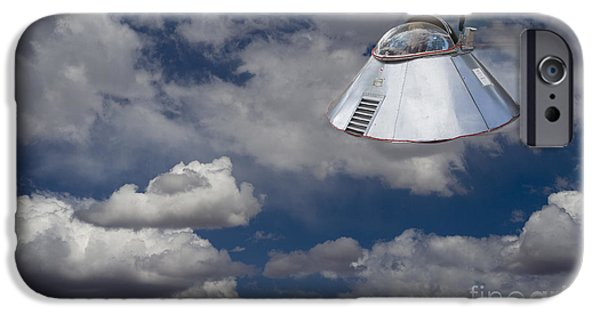 Hightower iPhone Cases - UFO Sighting iPhone Case by Tim Hightower