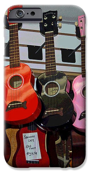 Ukeleles For Sale iPhone Case by Suzanne Gaff