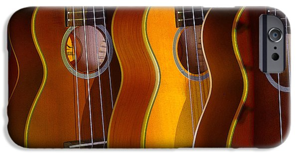 Ukelele iPhone Cases - Ukes iPhone Case by Jim Mathis