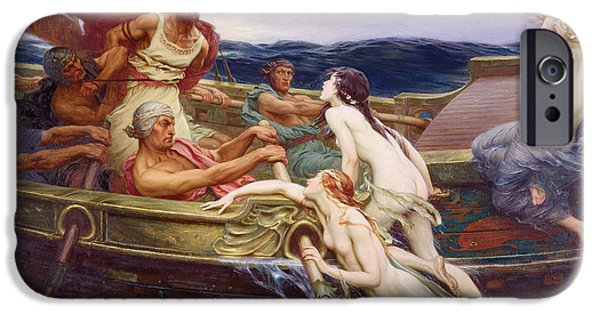 Female Body iPhone Cases - Ulysses and the Sirens iPhone Case by Herbert James Draper